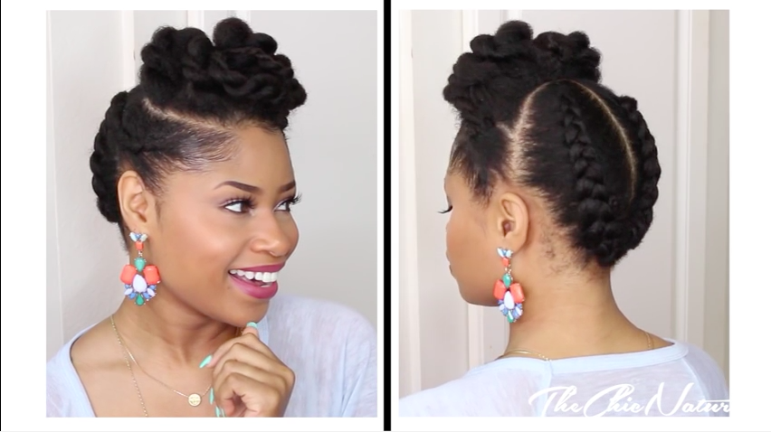 Natural Twsted Updo