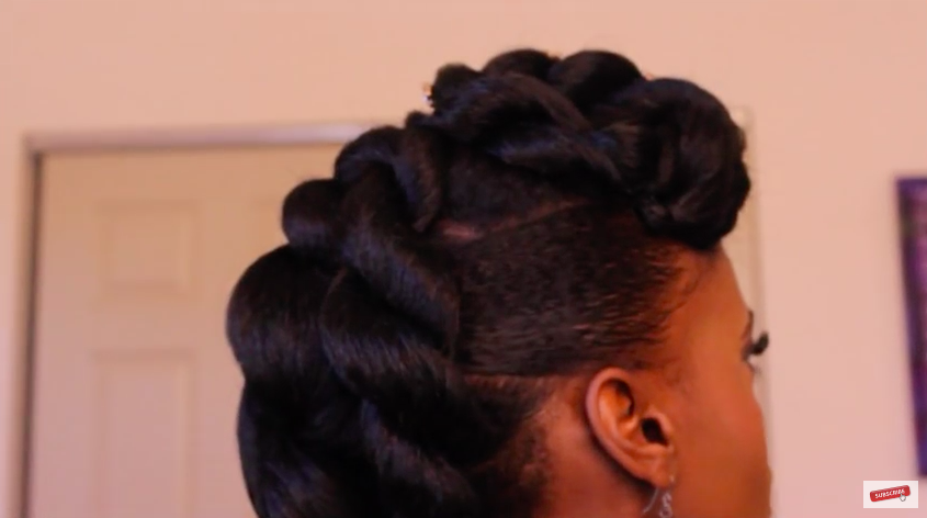 Natural Hair Braided Updo