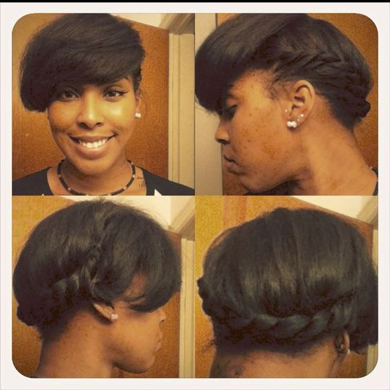 relaxed hair grow out