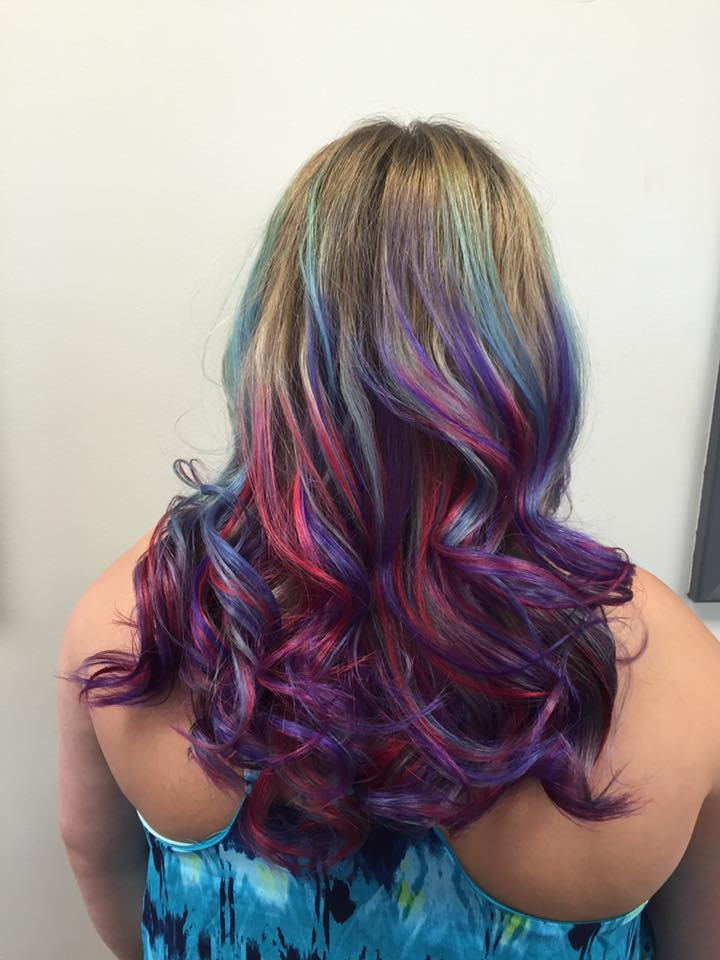 woman with beautiful pastel hair