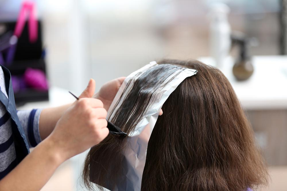 hair painter doing a hair color