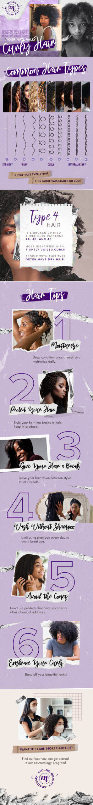 inforgraphic on how to care for natural hair