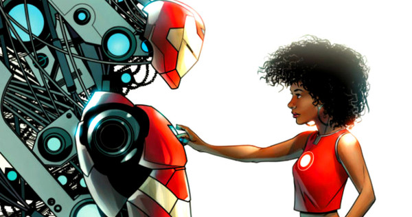 Iron man and Riri Williams