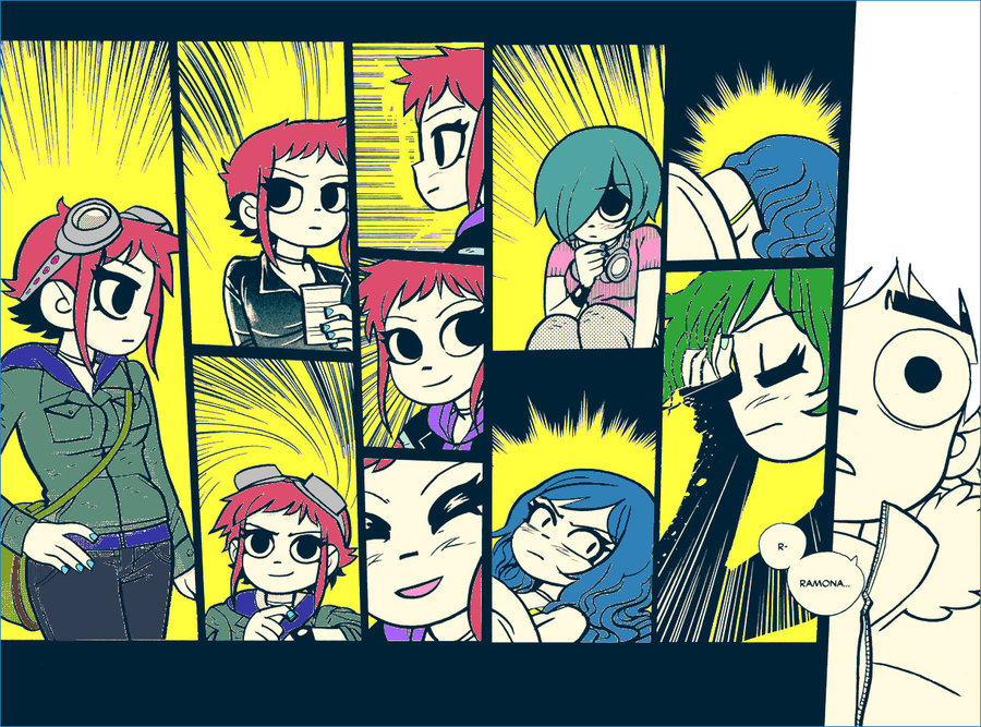 Scott Pilgrim created by Brian Lee O'Malley - fan art by RadioRobbie