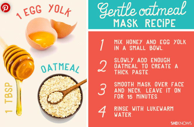 oatmeal honey face mask