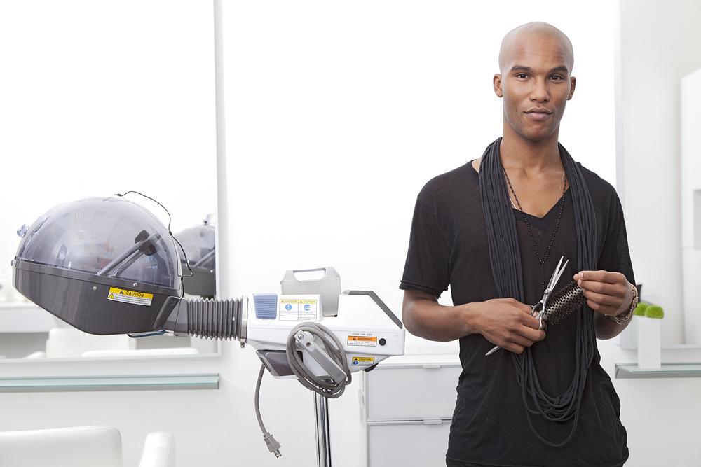 black male hairstylist